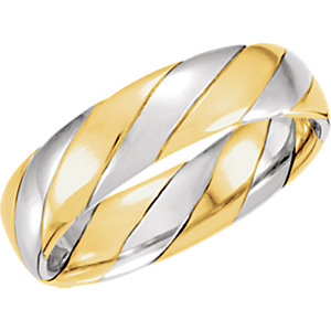 Two-Tone 6mm Hand-Woven Band