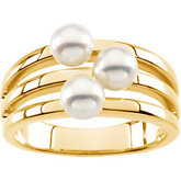3 Stone Pearl Ring Mounting