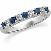 Sapphire & Diamond Anniversary Ring or Mounting