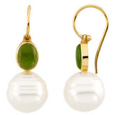 Genuine Jade Semi-mount Earrings