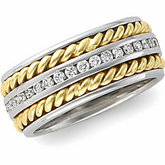 7mm Handwoven  Eternity Band Mounting