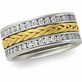 8mm Handwoven Eternity Band Mounting