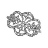 1/4 ct tw Vintage-Style Openwork Diamond Brooch