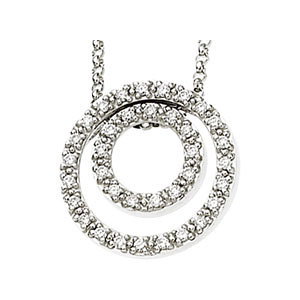 Diamond Concentric Circles Necklace