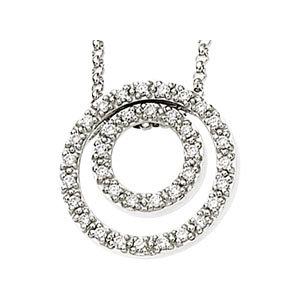 Diamond Concentric Circles Necklace