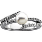 Micro Prong Set Ring Mounting for Pearl