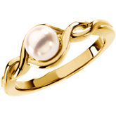 Infinity-Style Ring Mounting for Pearl