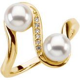 Ring Mounting for Pearls and Diamonds
