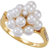 Ring Mounting for Pearl Cluster