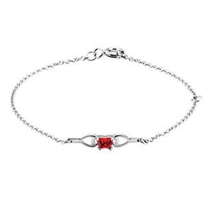 Sterling Silver July Birthstone Bracelet