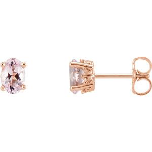 Oval Gemstone Scroll Setting® Earrings or Mounting