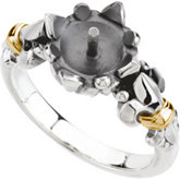 Fleur-de-lis Ring Mounting for Pearl