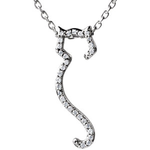 Tender Voices® Cat Silhouette Necklace