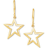 Gold Fashion Star Earring Dangle (ONLY)