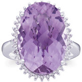 Genuine Amethyst and Diamond Ring