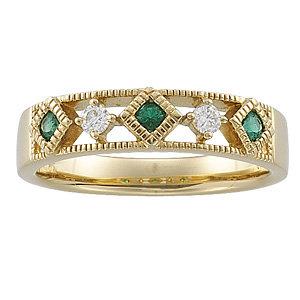 Emerald & Diamond Anniversary Band
