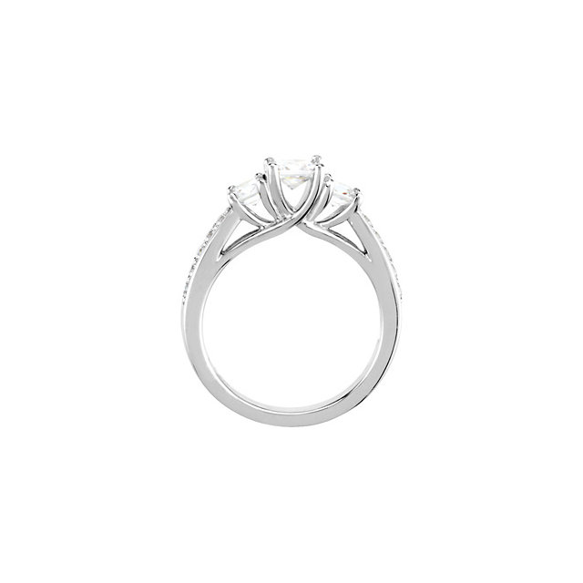 14K White 7/8 CTW Diamond Engagement Ring