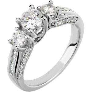 Diamond Engagement Ring, Semi-Mount or Band