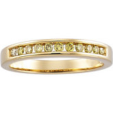 1/4 ct tw Yellow Diamond Anniversary Band