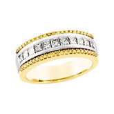 1 CTW Natural Yellow & White Diamond  Anniversary Band