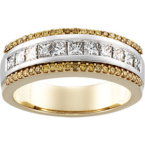 Diamond Two-Tone Anniversary Band