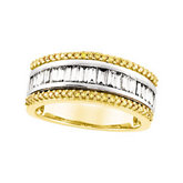 1 ct tw Yellow & White Diamond Anniversary Band