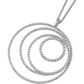 1 1/2 ct tw Nesting Circles Diamond Necklace
