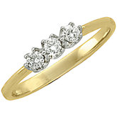 1/3 CTW Diamond 3-Stone Ring