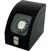 Tritan Black Leather Single Watch Winder