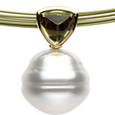Genuine Peridot & South Sea Cultured Pearl Necklace