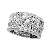 5/8 ct tw Openwork Infinity Design Diamond Band
