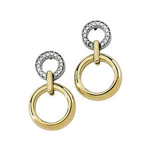 Two Tone Diamond Earrings