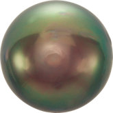 Ornamental Button Grey Tahitian Cultured Pearls