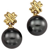 Tahitian Cultured Pearl Criss-Cross Earrings