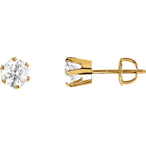 I₁ G-H Diamond Threaded Post Earrings
