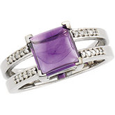 Ring Mounting for Square Gemstone