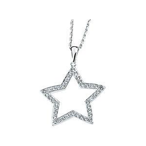 Cubic Zirconia Star Necklace