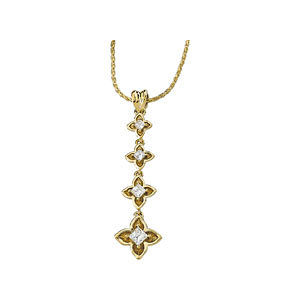 Journey Diamond Linked Flower Pendant