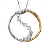 1/2 ct tw Journey Diamond Pendant