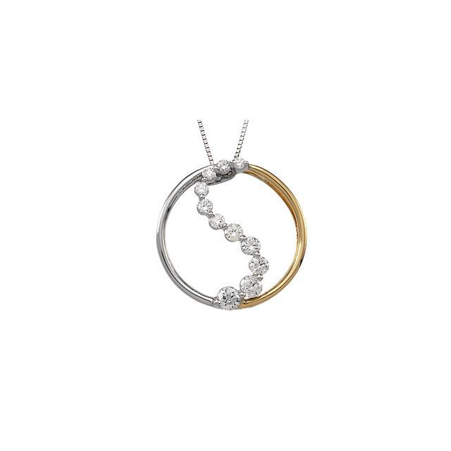 Vishal Jewelry White Gold 1/2 ct tw Journey Diamond Polished Pendant at Sears.com