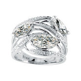 Created Moissanite & Diamond Ring