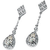 Created Moissanite & Diamond Drop Earrings