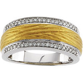 1/5 CTW Diamond Two Tone Anniversary Band