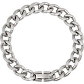 Stainless Steel Curb Diamond-Cut Chain 11mm