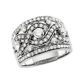 1 1/3 ct tw Diamond Infinity-Inspired Anniversary Band