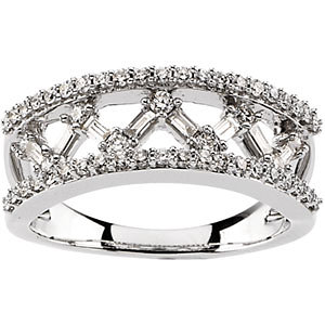 Diamond Openwork Design Anniversary Band
