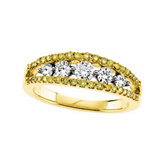 3/4 ct tw Yellow & White Diamond Anniversary Band