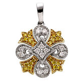 1/4 ct tw Natural Yellow & White Diamonds Pendant