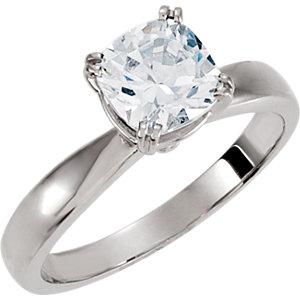 Antique Square Solitaire Engagement Ring