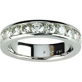 Created Moissanite Anniversary Band